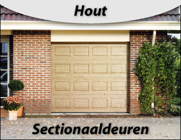 sectionaaldeuren hout
